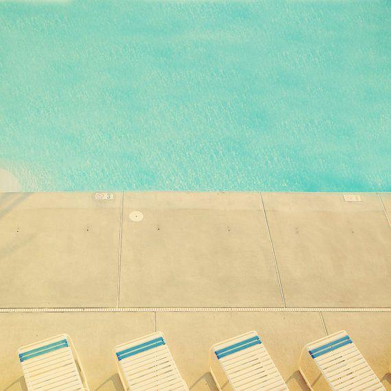 Hip decor swimming pool turquoise water aquamarine blue by bomobob, $30.00