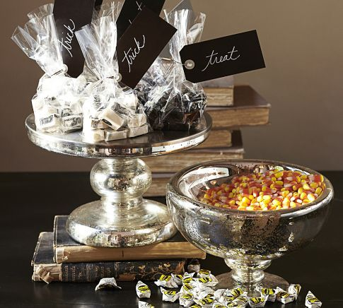 Antique Mercury Glass Candy Bowl & Cake Stand | Pottery Barn