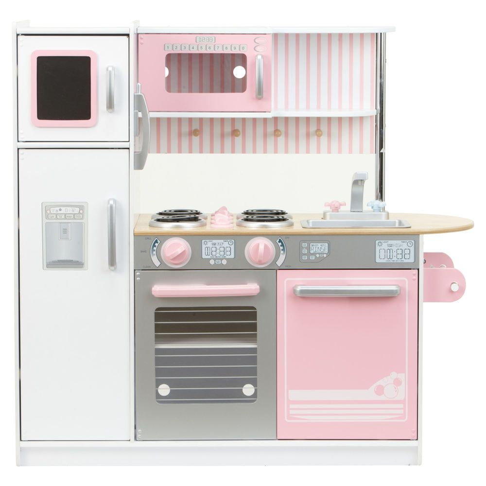 KidKraft Kitchen Petal Pink, available from Big W | Kids Play Room ...