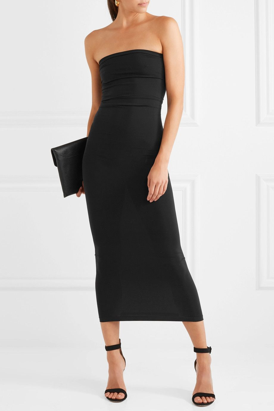 Fatal Strapless Stretch-jersey Maxi Dress - Black Wolford