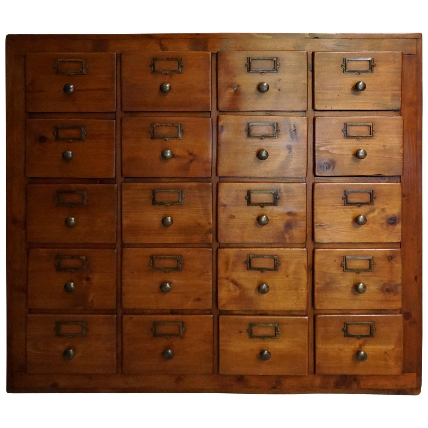 Vintage French Pine Apothecary Cabinet 1930s Apothecary Cabinet