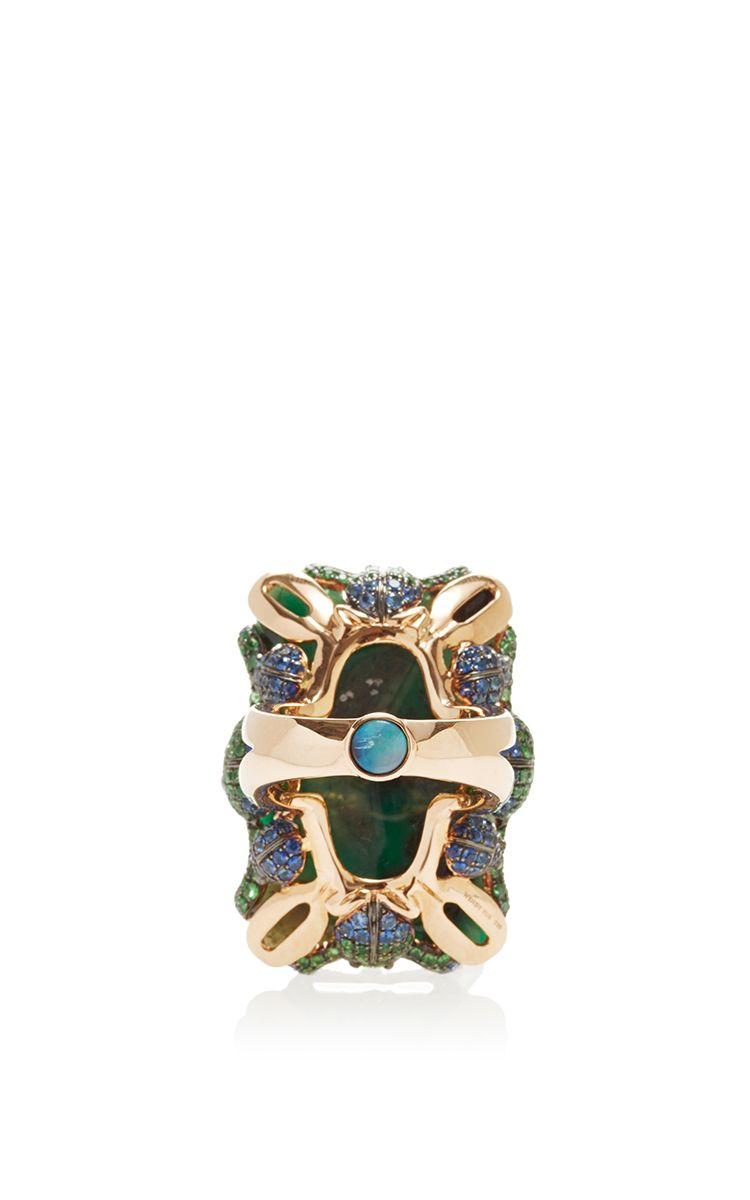 Emerald Cabochon Ring by Wendy Yue for Preorder on Moda Operandi
