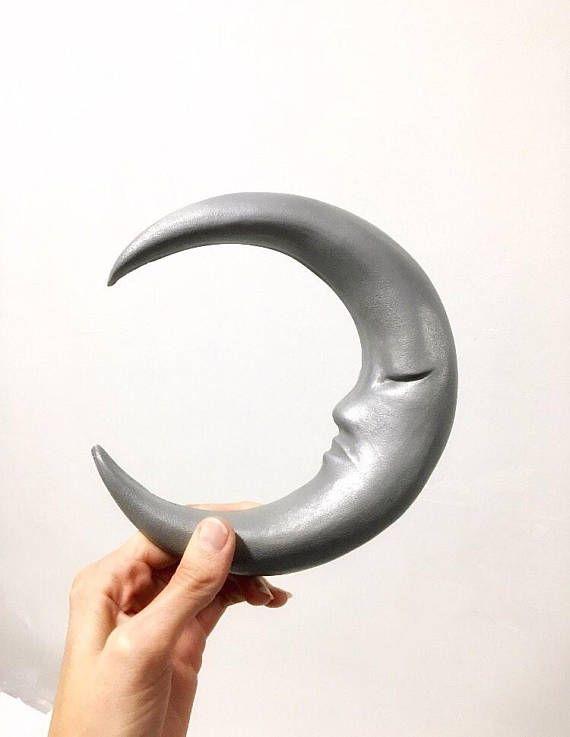 Love By The Moon Aluminium Resin Wall Sculpture A Sleepy Waxing