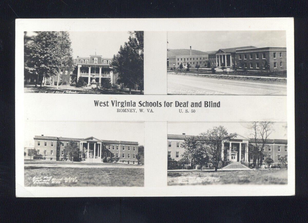 RPPC ROMNEY WEST VIRGINIA SCHOOL SCHOOLS FOR DEAF AND BLIND REAL PHOTO POSTCARD