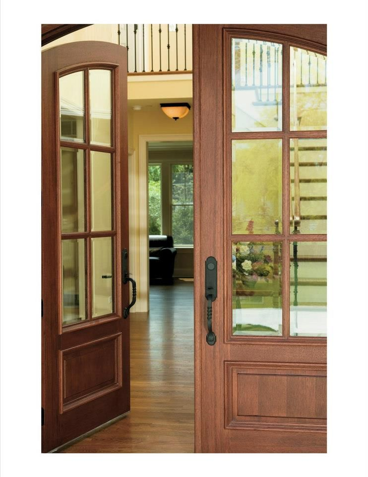 Pella Architect Series Wood Entry Door Double Entry