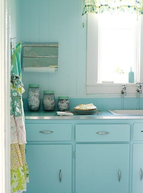 Bringing 1950 S Colors Into Your Modern Home Retro Home Decor Retro Home Turquoise Kitchen