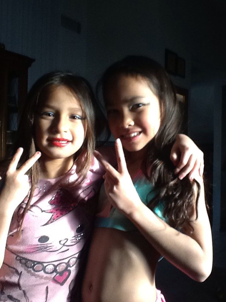 My sis and my friend