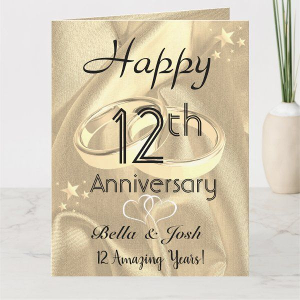 Names Card Rustic Wedding Card Wood Anniversary Year Card Personalised Anniversary Card
