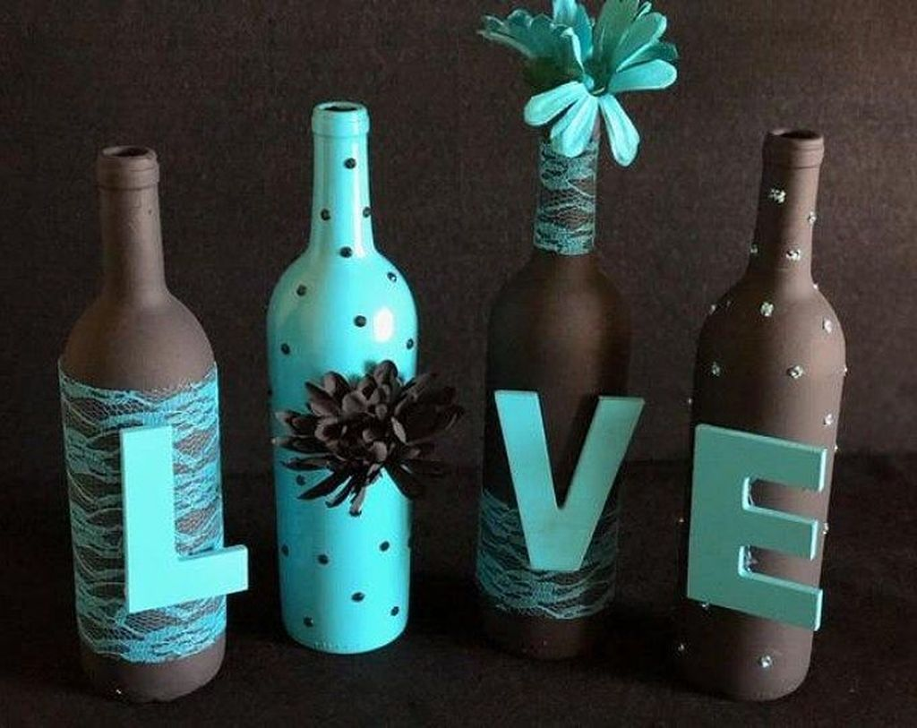 35 Fabulous Wine Bottle Crafts For Home Decoration ...
