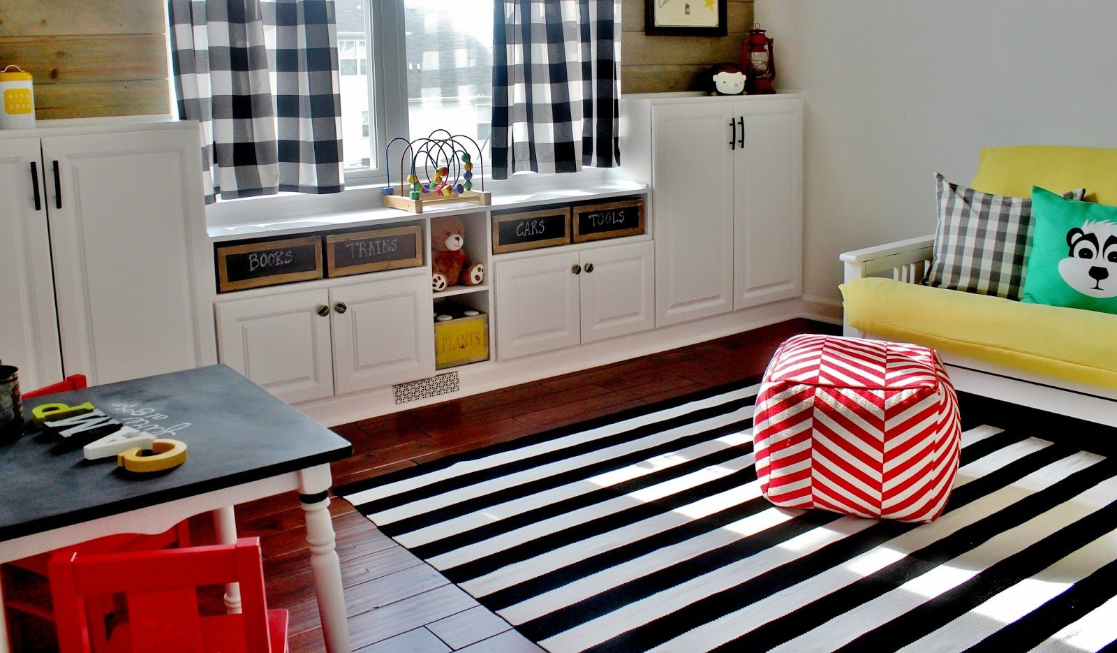 Love this easy diy project to add storage to a playroom or family room this post has a ton of great pictures all of the tools needed and steps on how