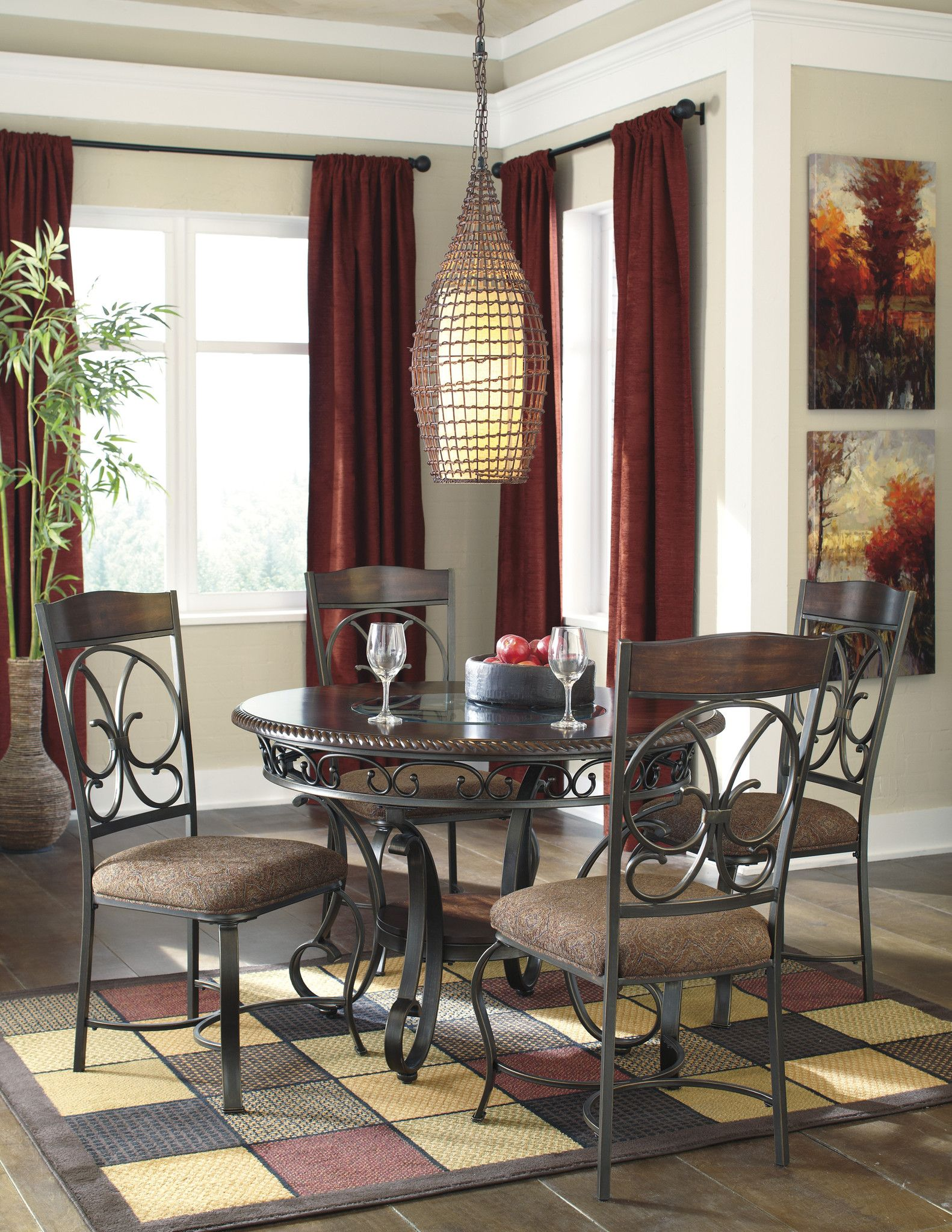 Glambrey 5 Piece Round Dining Set