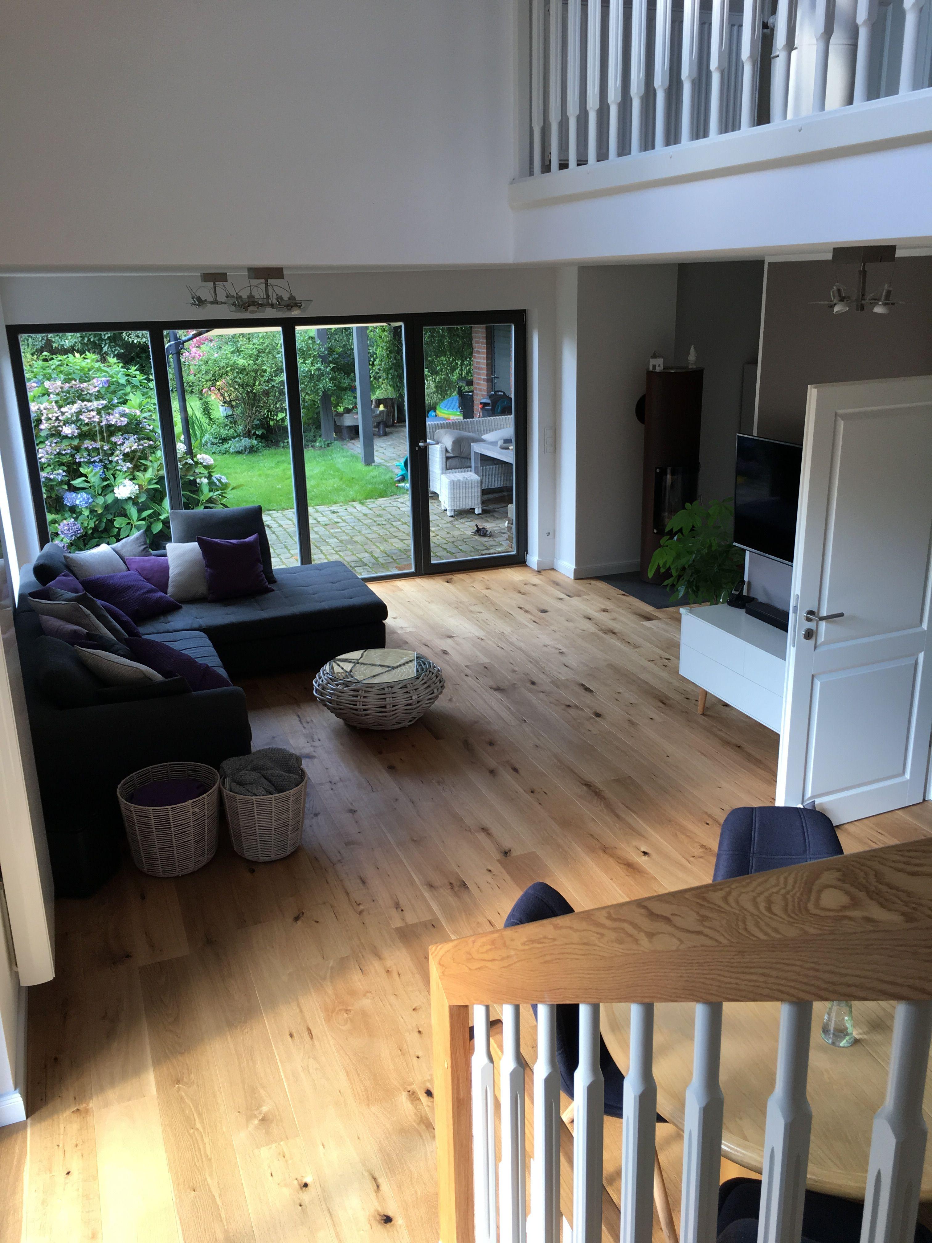 Livingroom • Wohnzimmer Oak Floor everywhere and a beautiful new ...