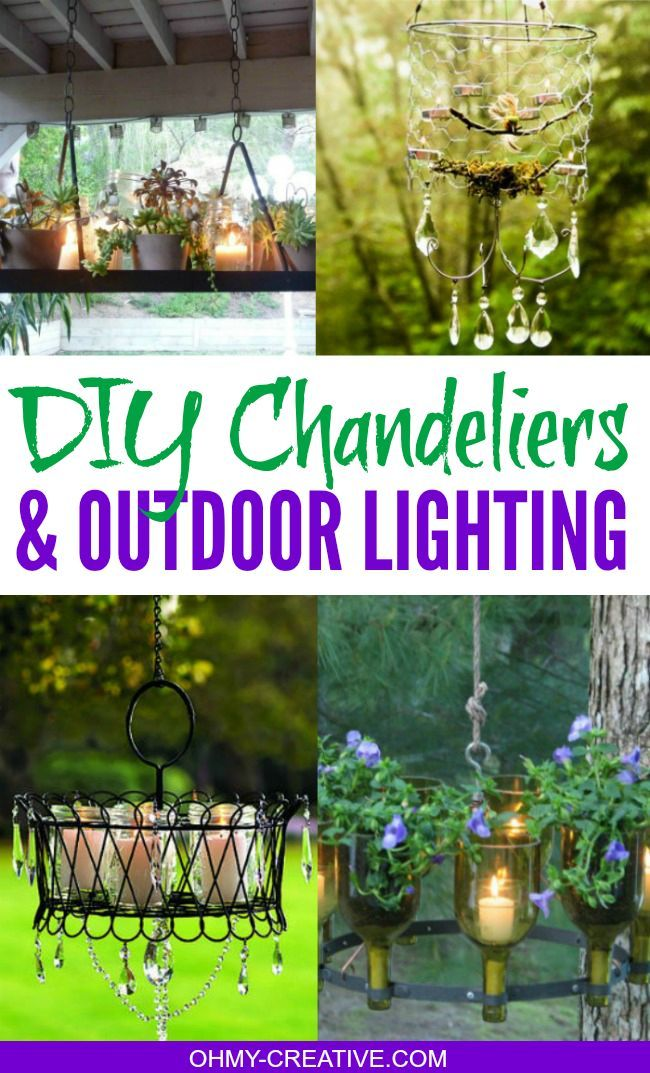 Diy Chandeliers And Outdoor Lighting Oh My Creative Outdoor Chandelier Outdoor Lighting Diy Outdoor