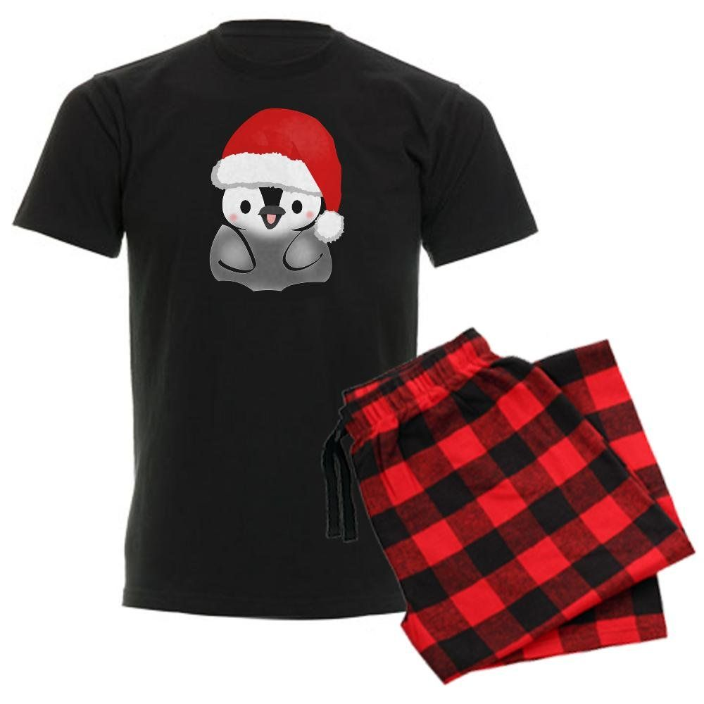 CafePress Cute Holiday Penguin Men s Dark Pajamas Men s Dark Pajamas - XL  With 8d845cf27