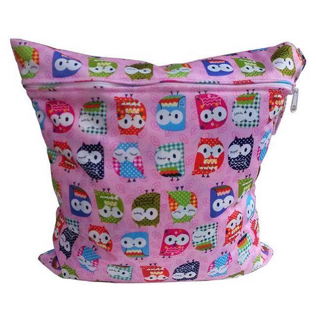 Useful Waterproof Reusable Zipper Baby Cloth Diaper Wet Dry Bag Swimer Tote LY4