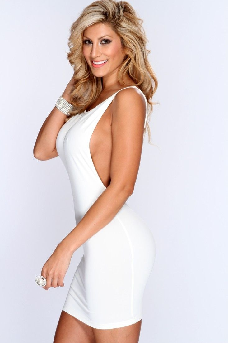 White Backless Sleeveless Bodycon Party Dress