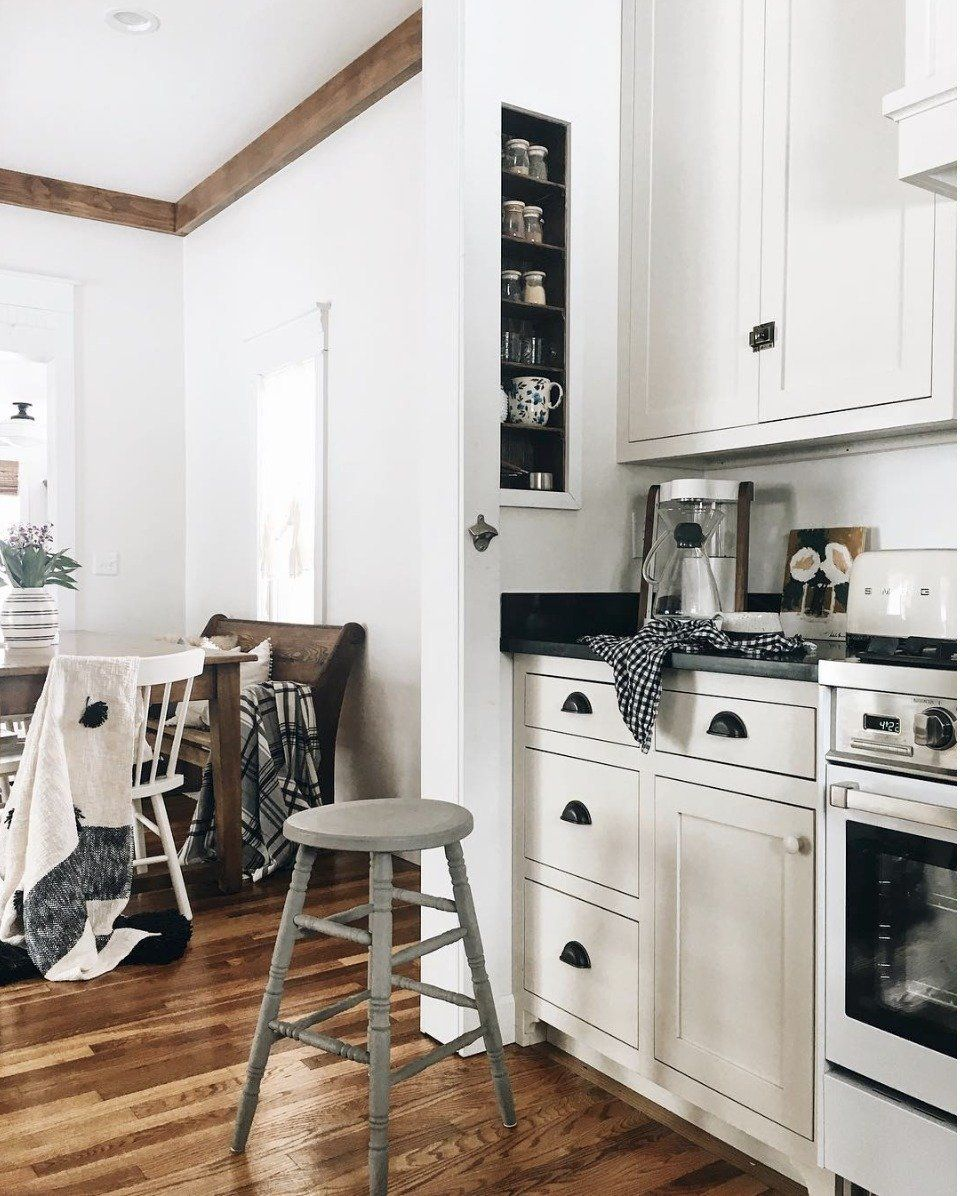 Small Space Living Series 110 Sq Ft Kitchen Tour Nesting With Grace Small Space Living Country Kitchen Designs Small Spaces