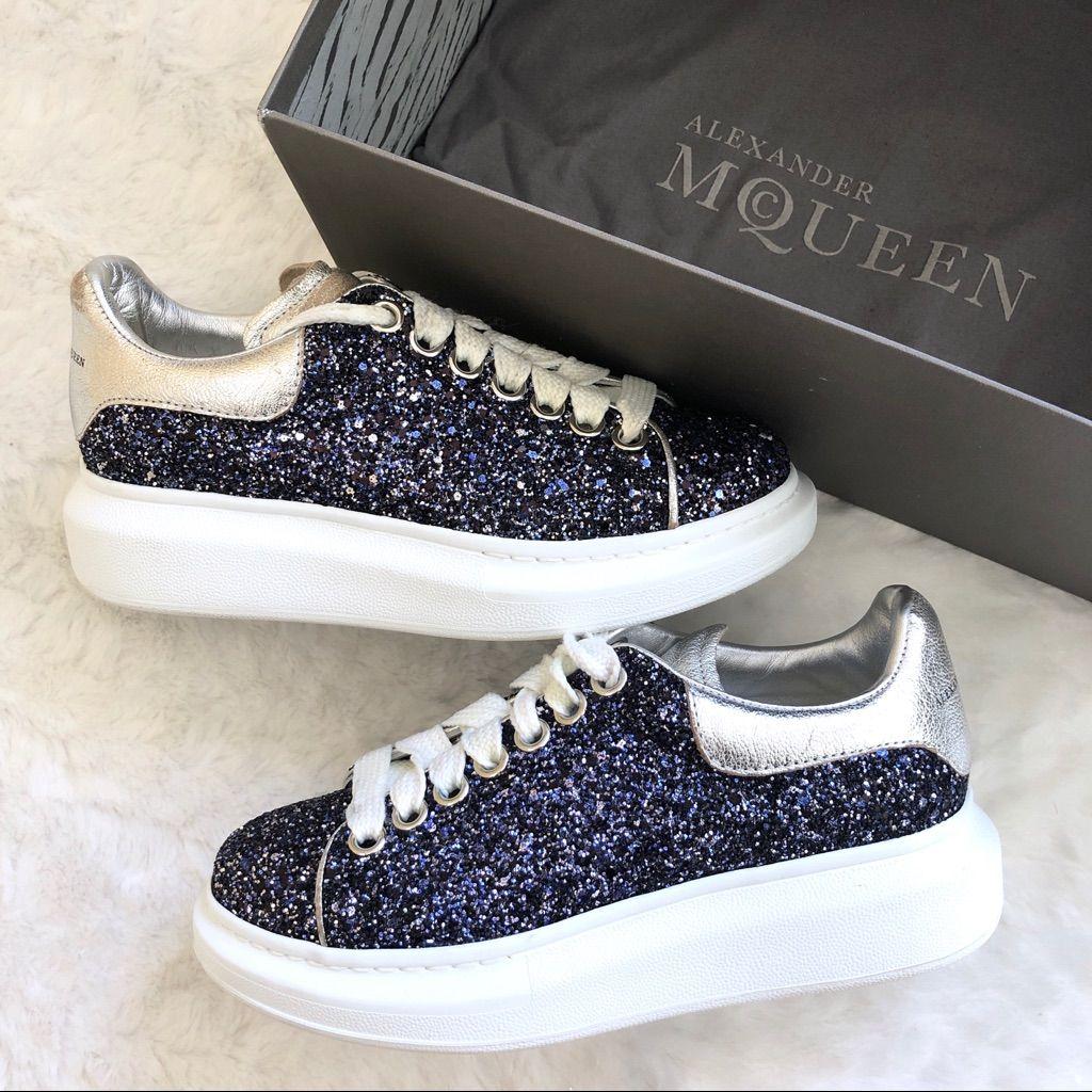 Alexander McQueen Platform Blue Glitter