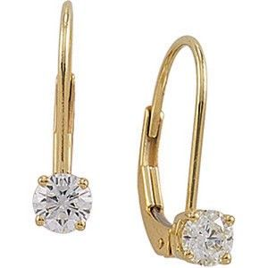 1 4ctleverbackearr 14kt Yellow Or White Gold 1 4 Ct Diamond Earrings Diamond Drop Earrings