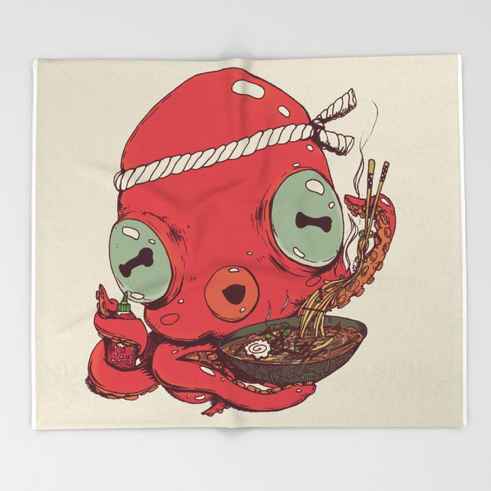 Spicy Ramen by Ben Geiger - Throw Blanket #Chop-sticks #Asian #Japanese #Soup #Cute #Chef #Graphic #Tentacle #Japan #Kawaii (affiliate) | Pinterest ... & Spicy Ramen by Ben Geiger - Throw Blanket #Chop-sticks #Asian ...
