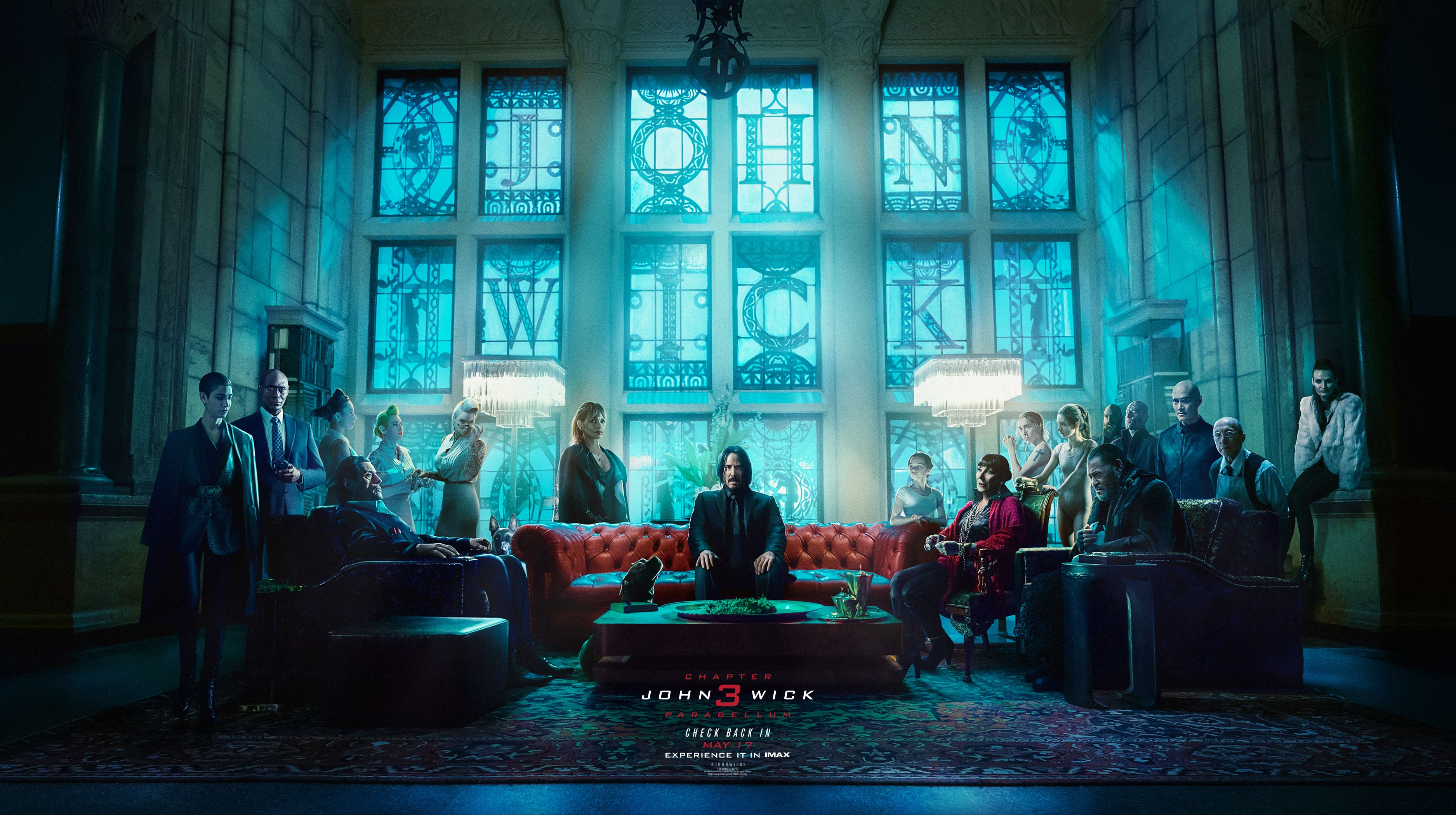 John Wick Chapter 3 Parabellum Imax Poster Brings The World S Deadliest Killers Back To The Continental Keanu Reeves Watch John Wick Full Movies Online Free