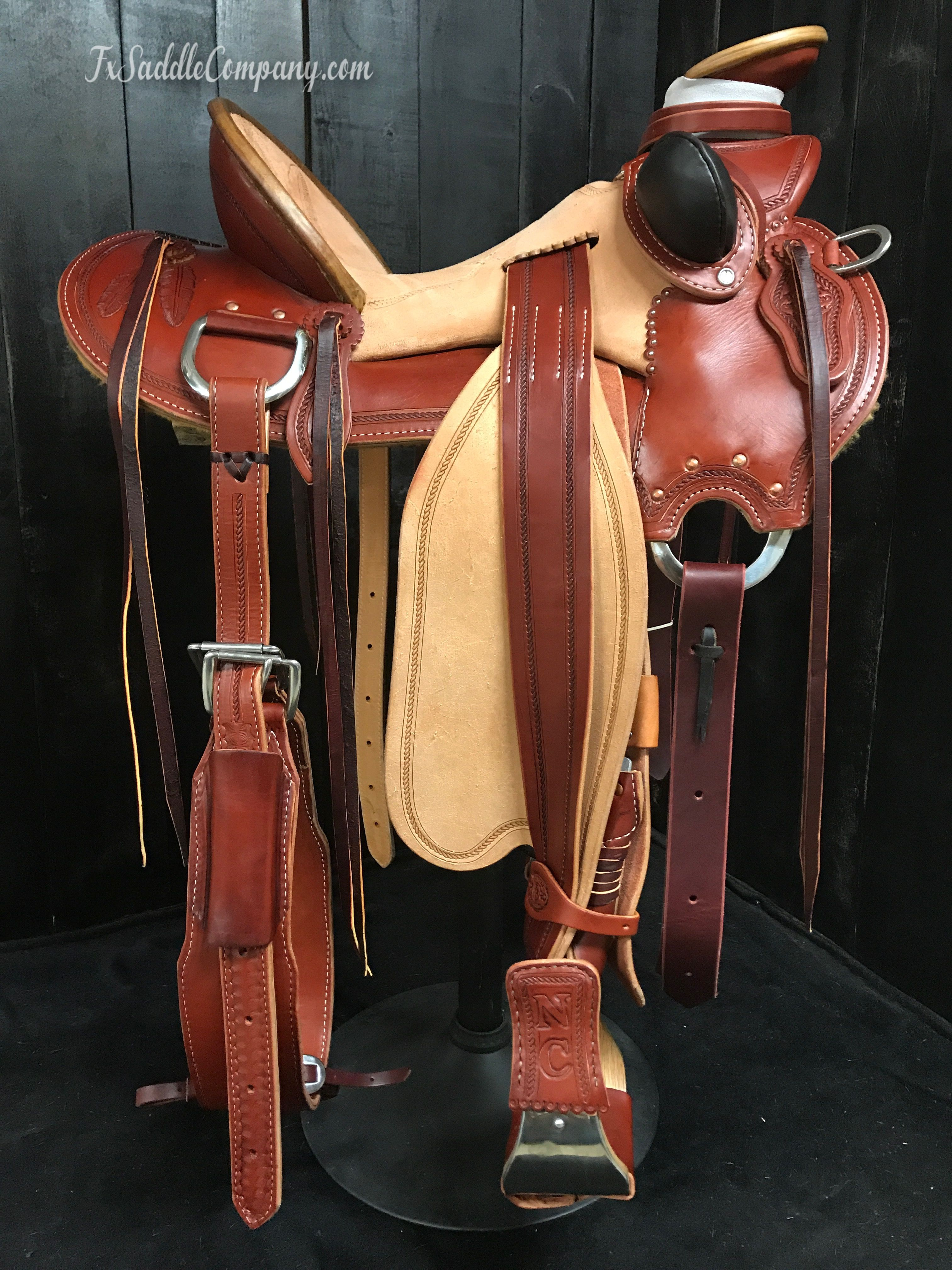 New skeleton wade saddle from our Master Collection  2-tone Hermann