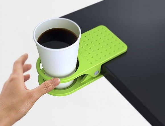 Charming Clip On Table Cup Holder