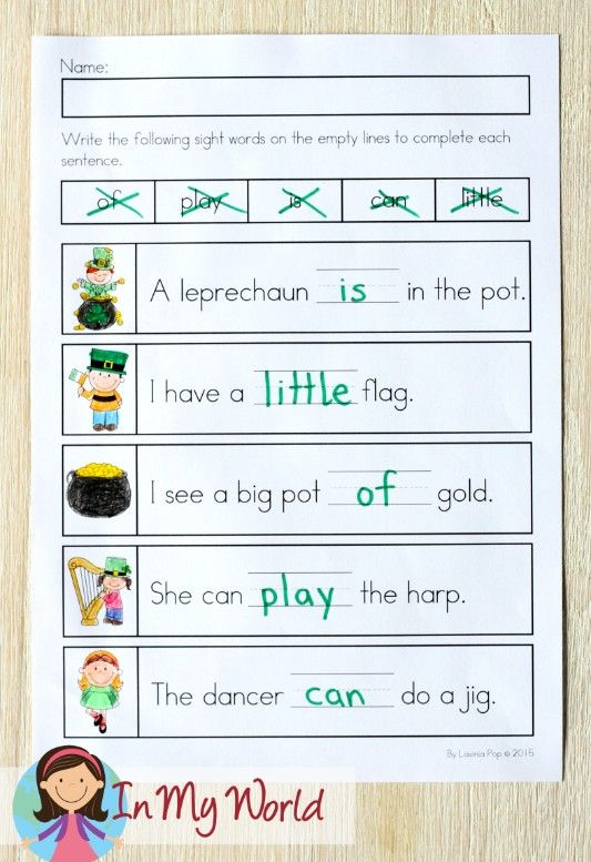 St Patrick s Day Worksheets and Activities for Kindergarten