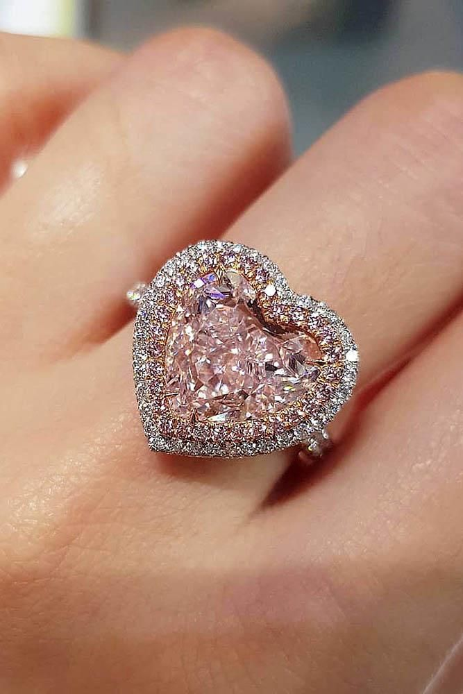 39 The Most Beautiful Gold Engagement Rings Wedding Forward Heart Engagement Rings Pink Diamond Popular Engagement Rings