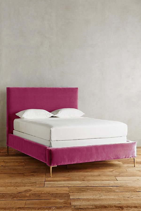 Pink Velvet Bed Unique Bed Frames Velvet Bed Bedroom Furniture