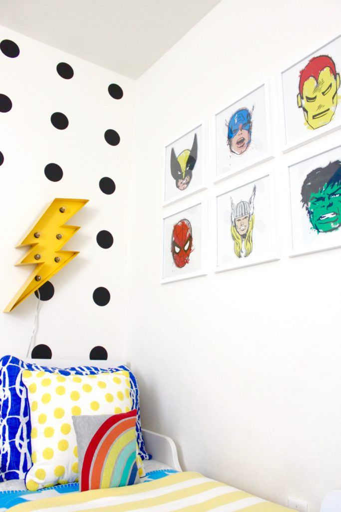 Superhero Toddler Room Reveal #toddlerrooms