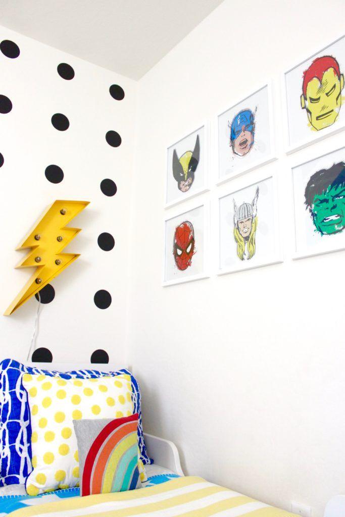 Superhero Toddler Room Reveal images