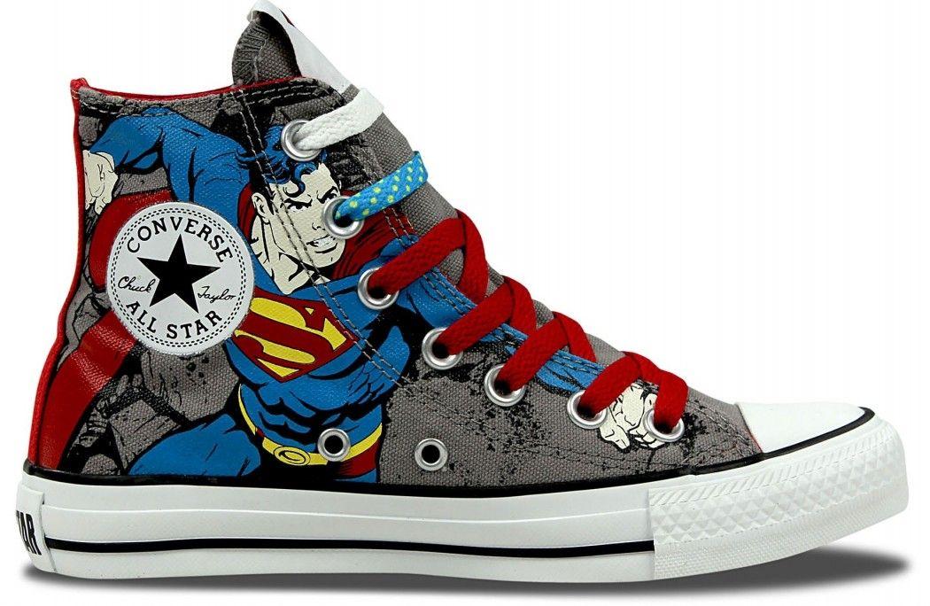 superman converse shoes
