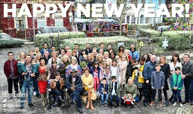 Happy new year from thw cast of Eastenders