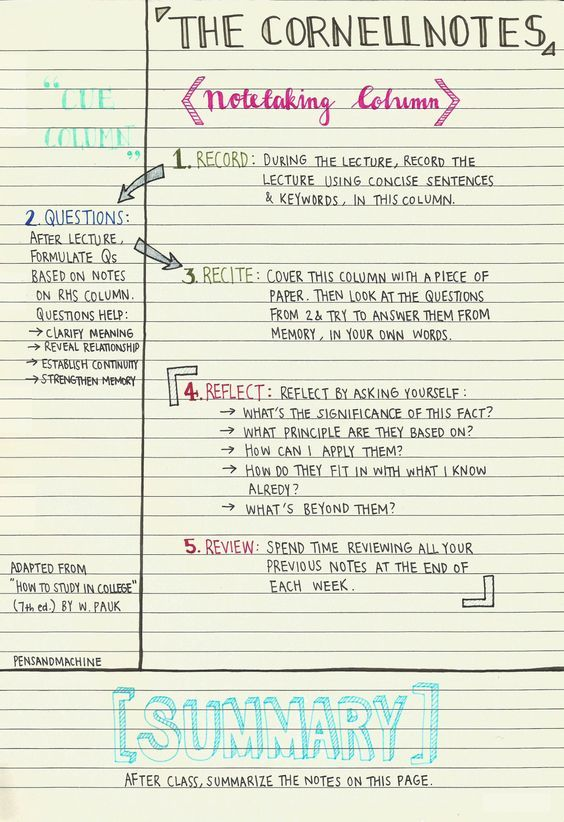 A Guide To Note Taking For Students  Note Students And School