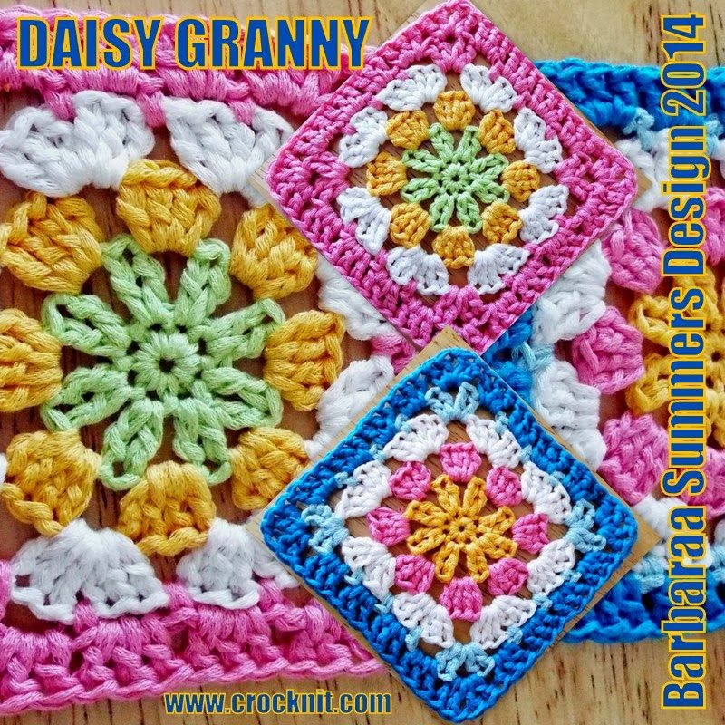 MICROCKNIT CREATIONS: DAISY GRANNY Square Crochet FREE Pattern ...