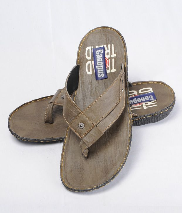 canopus grey mens stylish chappals from