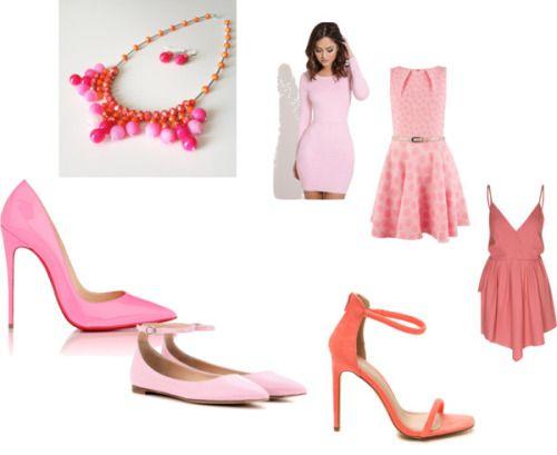 Shades of pink by littlegemsbyluisa featuring a red dressCloset...