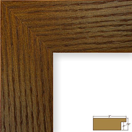 Craig Frames 80598923 12 By 16inch Picture Frame Wood Grain Finish 2inch Wide Rich Brown Oak Check O Rustic Photo Frames Pallet Picture Frames Craig Frames