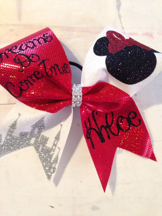 Hey, I found this really awesome Etsy listing at https://www.etsy.com/listing/218554018/minnie-mouse-cheer-bow