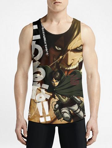02679a69d1b403 Attack On Titan   Guys Tank Top   Shingeki no Kyojin OSOMWear Men s Anime  Tank Tops