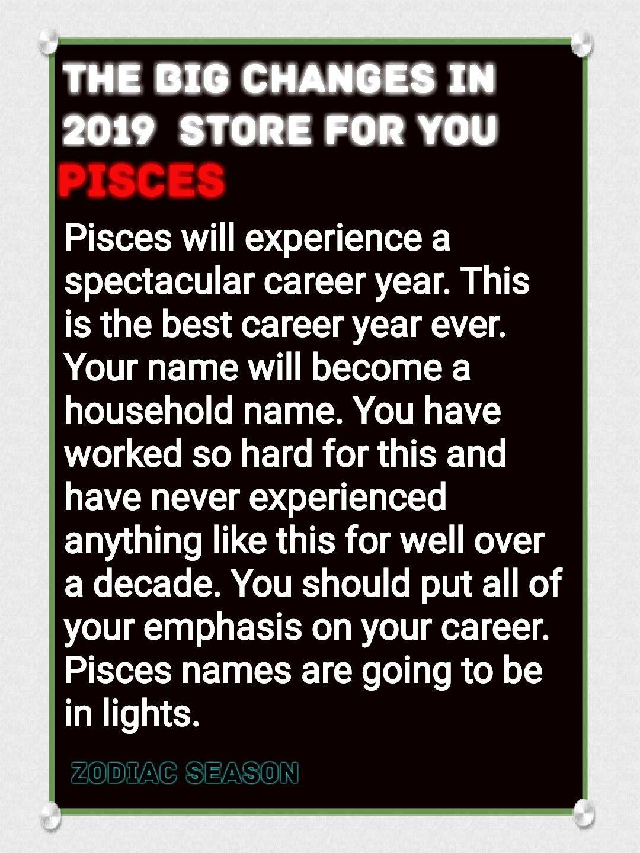 Pisces Horoscope 2019