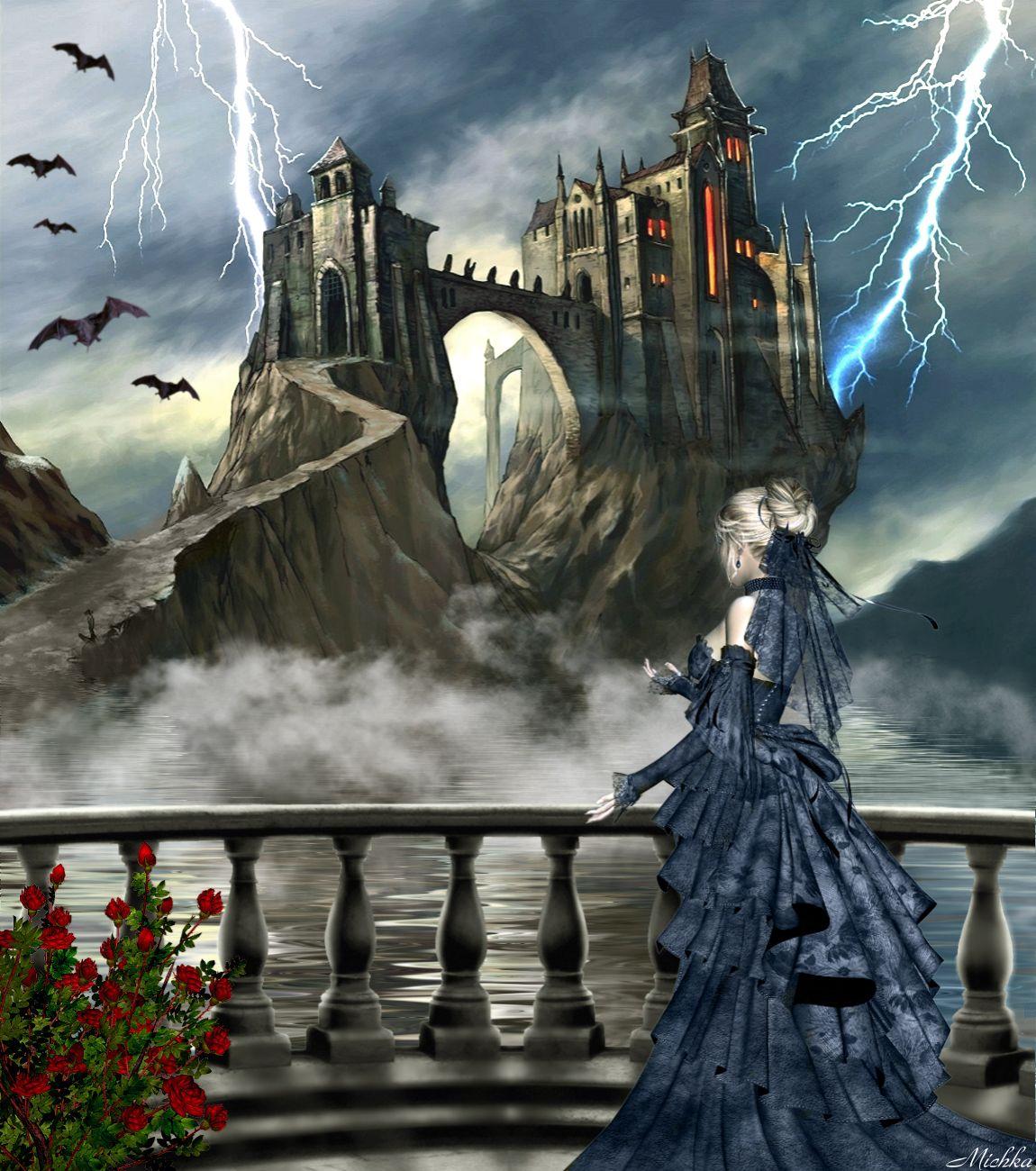 замок и ведьма картинки арт нового формата