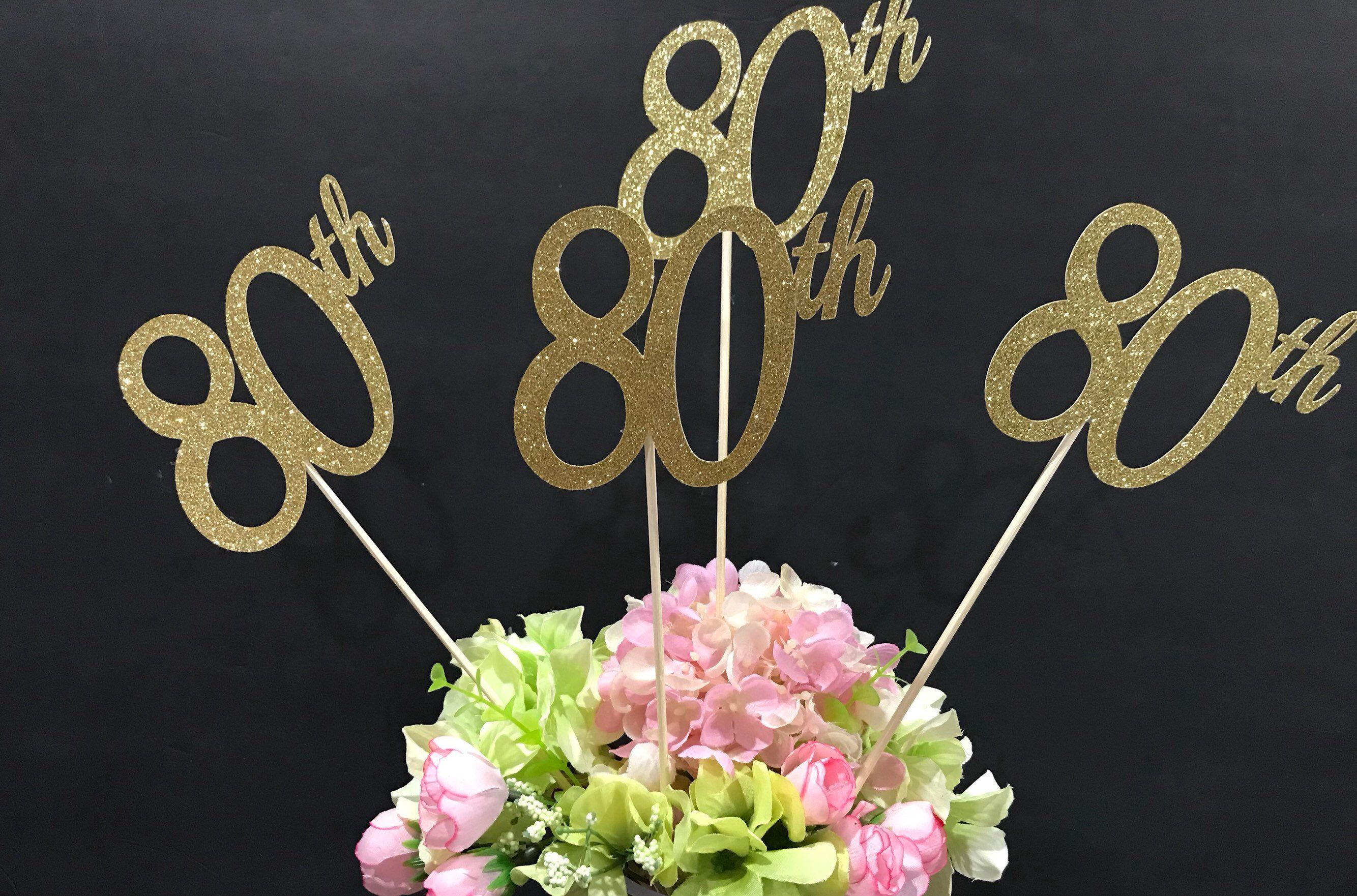 Excited to share this item from my etsy shop th birthday decorations centerpiece sticks glitter table also rh pinterest