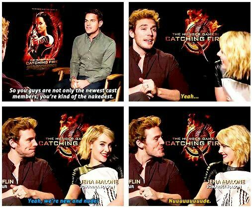 Hahahahahaha omg I love these two!!! Best Finnick and Johanna ever!!!!