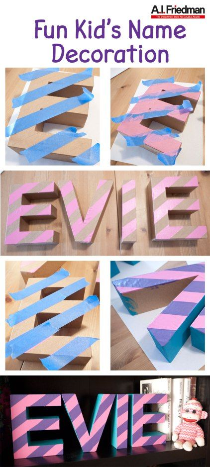 Fun Kid S Name Decoration Project Letter A Crafts Name Decorations Paper Mache Letters