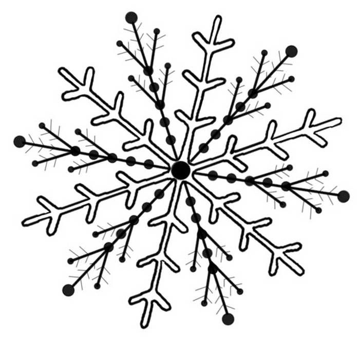 snowflake clip art clipart free to use clip art resource rh pinterest com au Free Snow Clip Art Free Snowflake Clip Art Black and White