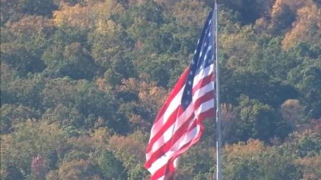 Chopper 9 Largest American Flag In U S Flies Over Gaston County Large American Flag American Flags Flying American Flag