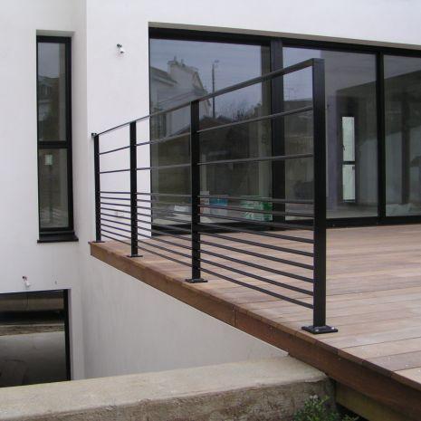 garde corps d 39 ext rieur en m tal barreaux pour terrasse cabourg escalier design 14. Black Bedroom Furniture Sets. Home Design Ideas