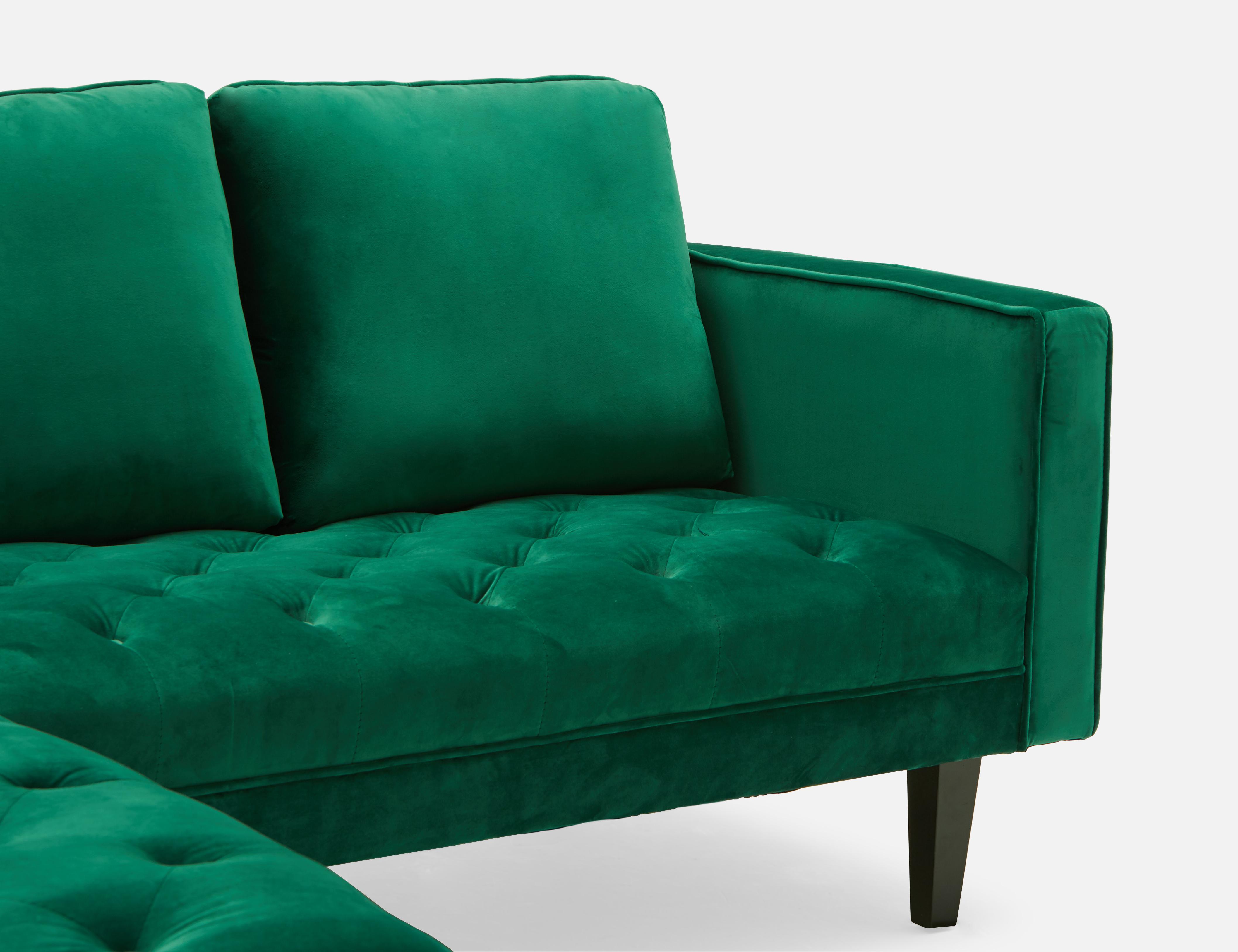 Cool Green Interchangeable Sectional Velvet Sofa Structube Todd Inzonedesignstudio Interior Chair Design Inzonedesignstudiocom